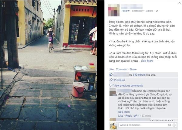 Tranh cãi gay gắt về câu chuyện cô gái Việt khuyên bạn phá thai