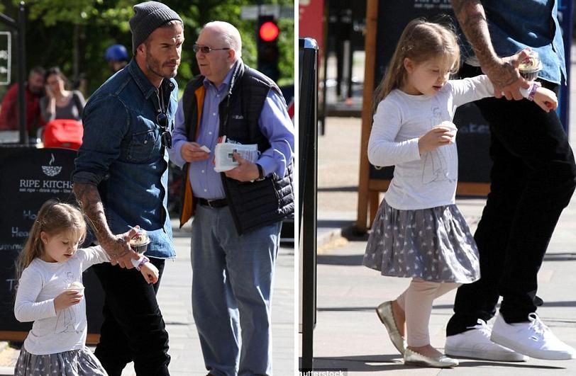David Beckham dành trọn ngày bên con gái cưng