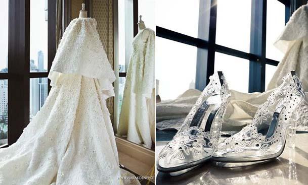 Mỹ nhân Thái Lan chi 300.000 USD cho trang phục cưới