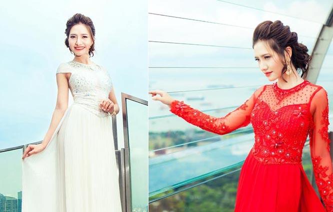 Dương Hiểu Ngọc hóa tiểu thư đài các với áo dài cách tân Tommy Nguyễn