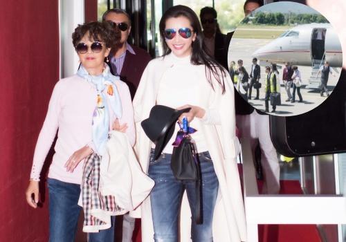 Lý Băng Băng đưa bố mẹ tới Cannes bằng phi cơ riêng