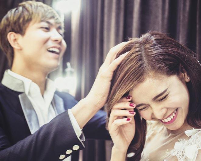 Tim - Trương Quỳnh Anh nhí nhảnh mặc đồ cưới