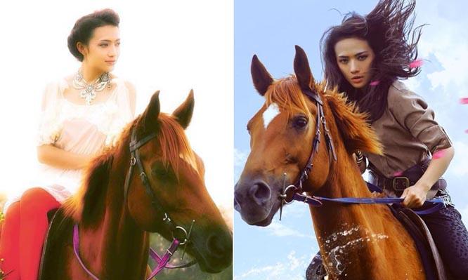 Tinna Tình làm nữ kỵ sĩ phiêu bạt cùng tuấn mã