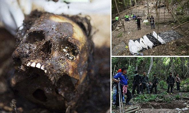 Những hình ảnh kinh hoàng trong trại buôn người ở Malaysia