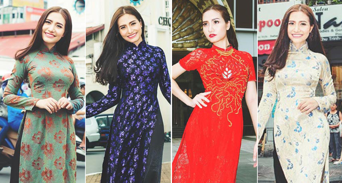 Dương Hiểu Ngọc đẹp lạ với những mẫu áo dài mới của NTK Tommy Nguyễn