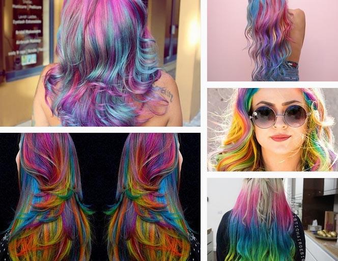 10 mái tóc nhuộm line cát nghệ thuật đẹp như tranh trừu tượng