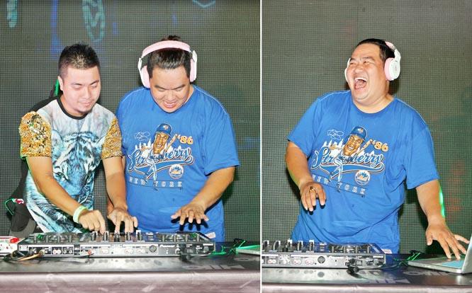 Hoàng Mập cười thả ga trên sân khấu chơi DJ