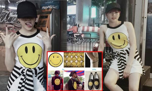 """Thiều Bảo Trâm diện váy có icon mặt cười mà Sơn Tùng """"phát cuồng"""""""
