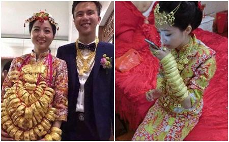 Những cô dâu gây choáng vì đeo hàng chục vòng vàng trong lễ cưới