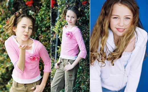 Ảnh hiếm Miley Cyrus làm mẫu năm 11 tuổi