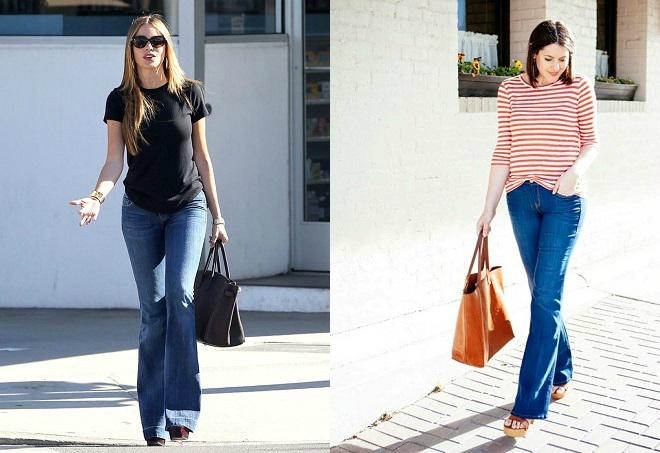 Năng động ngày hè với quần jeans ống loe