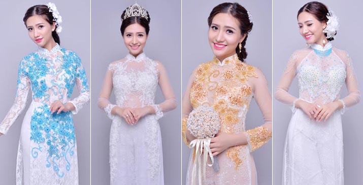 Cô dâu Dương Hiểu Ngọc đẹp lạ với Áo dài cưới cách tân Tommy Nguyễn