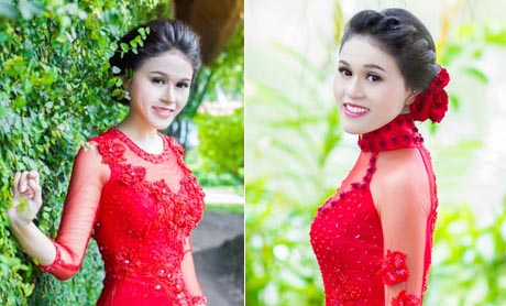 NTK Tommy Nguyễn ra mắt mẫu áo dài cưới màu đỏ cách điệu kiêu sa