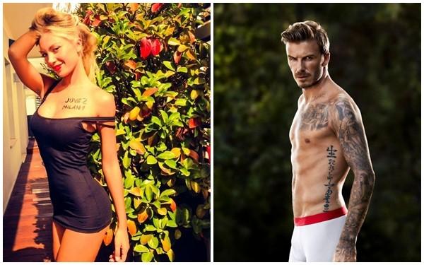 """Siêu mẫu Italia bất ngờ tiết lộ từng """"qua đêm"""" với Beckham"""
