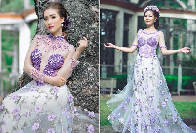 Dương Hiểu Ngọc hóa thành công chúa với Áo dài cưới Tommy Nguyễn