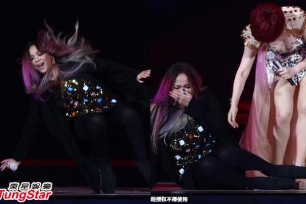 Diva Đài Loan ngã nhào trên sân khấu