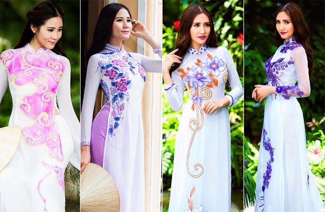 Hoàng Hạnh - Dương Hiểu Ngọc cùng khoe sắc với áo dài cưới Tommy Nguyễn