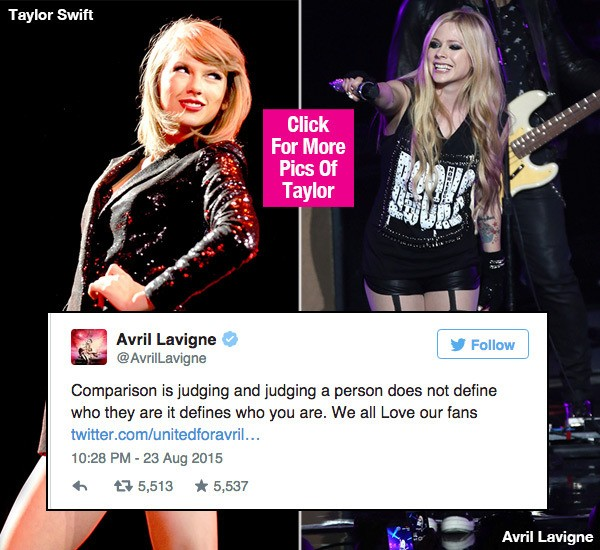 Avril Lavigne khẩu chiến với Taylor Swift