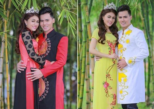 Cặp đôi Thái Thảo Trinh - Hồ Văn Phúc ton sur ton với Áo dài cưới Tommy Nguyễn