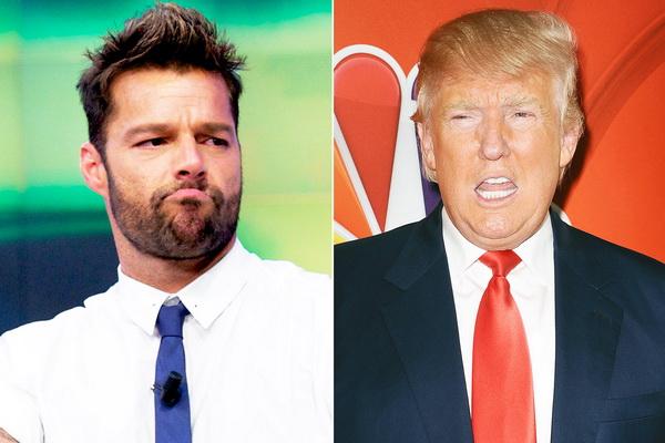 Ricky Martin sôi máu vì Donald Trump