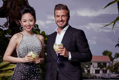 Tóc Tiên chưng diện dự tiệc cùng David Beckham