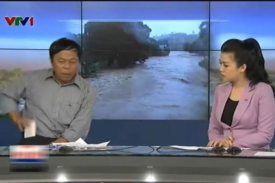 Sự cố hy hữu trên sóng thời sự VTV