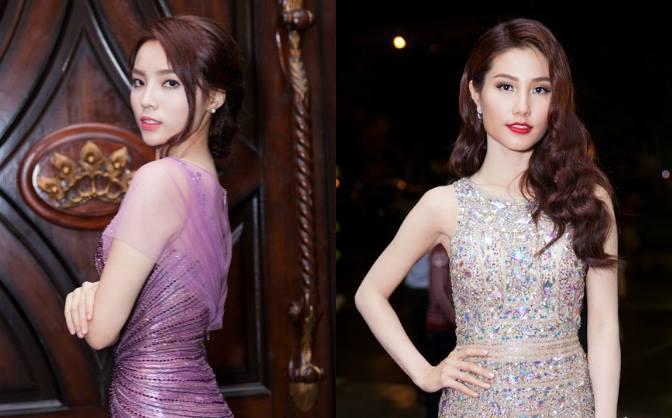 Kỳ Duyên dịu dàng, Diễm My diện váy trăm triệu tới xem Hoa hậu Hoàn Vũ Việt Nam