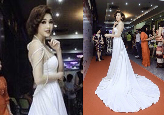 Lương Thái Trân lộng lẫy với váy dạ hội của NTK Erick Trần