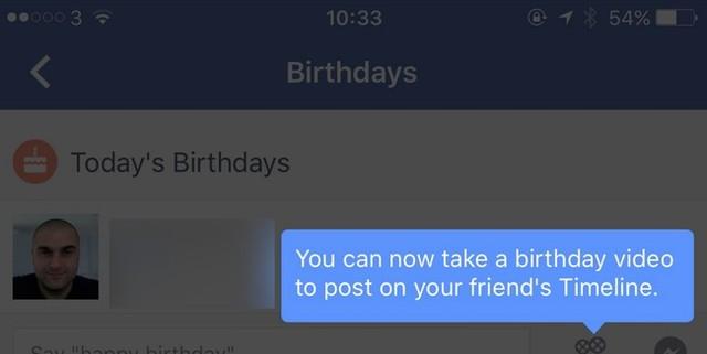 Facebook sẽ cho phép người dùng chúc mừng sinh nhật bạn bè thông qua video