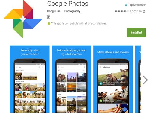 Google Photos đã có 100 triệu người dùng mỗi tháng