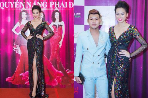 HHĐD Bùi Thảo Huyền diện đầm 10.000 USD của NTK Erick Trần