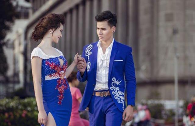Hồ Văn Phúc lịch lãm bên Diễm Trinh quyến rũ với thiết kế của Tommy Nguyễn