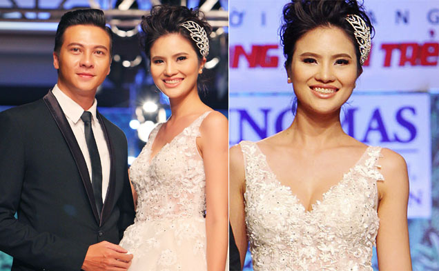 Gái quê Lê Thị Phương lộng lẫy váy cưới trên sàn diễn