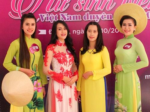 """Nữ sinh Tây Nguyên duyên dáng trong vòng Sơ khảo """"NSVVN duyên dáng 2015"""""""