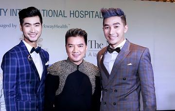 Nam Phong, Đàm Thanh lịch lãm bên Mr. Đàm trong sự kiện thời trang