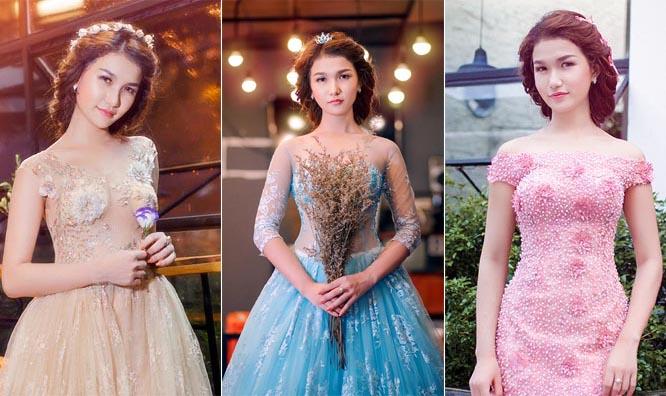 Diễm Trinh xinh đẹp như công chúa với váy cưới Tommy Nguyễn