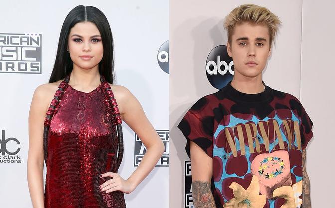 Justin Bieber và Selena Gomez cùng có mặt trên thảm đỏ AMAs 2015
