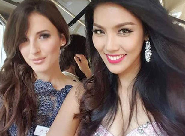 Lan Khuê diện đầm cúp ngực ở tiệc chào mừng Miss World