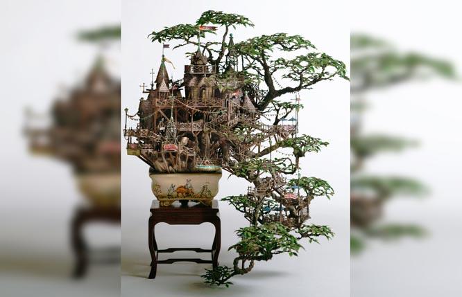 Tuyệt tác lâu đài cây bonsai của nghệ nhân gạo cội người Nhật Bản