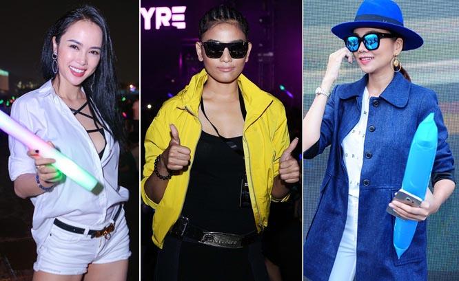 """Style """"đi quẩy"""" của sao & hot girl Việt trong các đại nhạc hội"""