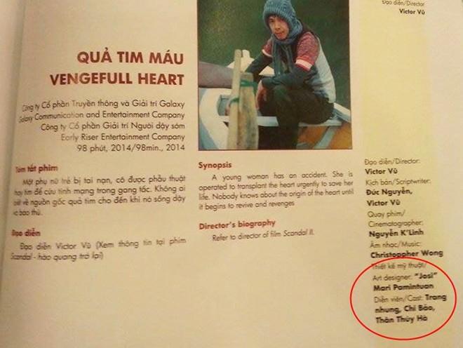 Kỷ yếu của Liên hoan phim Việt Nam sai thông tin, chính tả