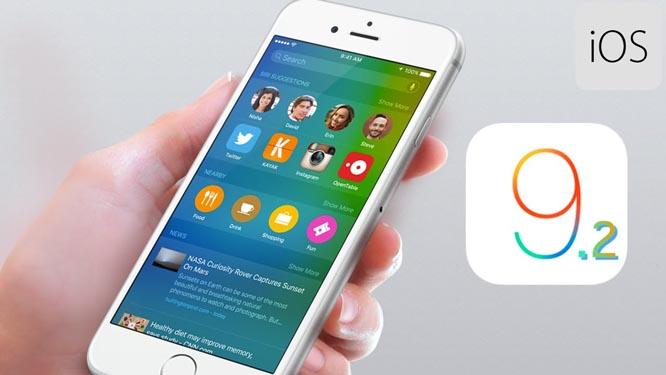 Apple ra bản cập nhật iOS 9.2, sửa nhiều lỗi