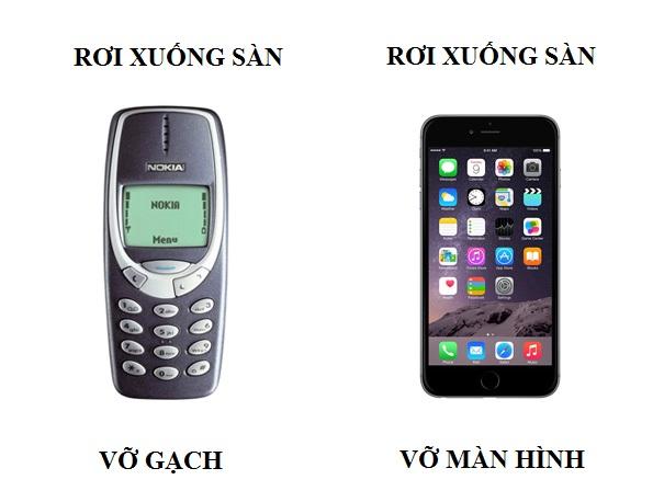 Sự khác biệt của điện thoại di động xưa và nay