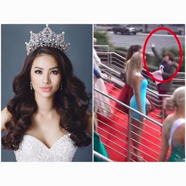 Clip Phạm Hương nhanh chân giành chỗ đẹp tại Hoa hậu Hoàn vũ