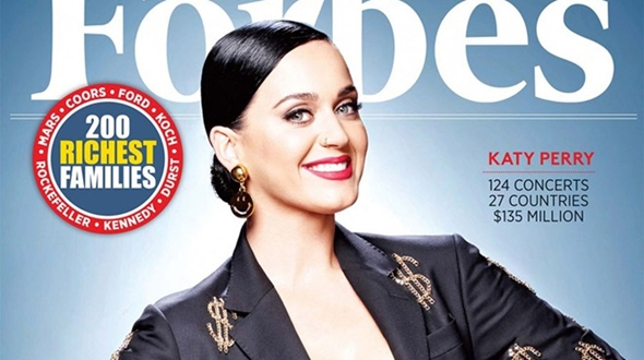 Katy Perry là nghệ sĩ có thu nhập cao nhất 2015