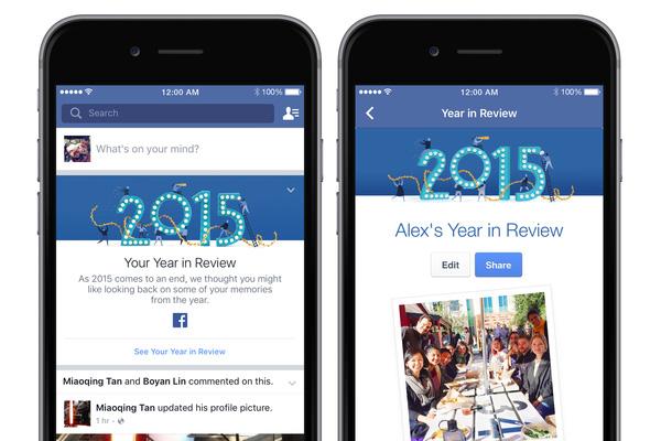 Đến hẹn lại lên, Facebook tung ra công cụ nhìn lại năm 2015