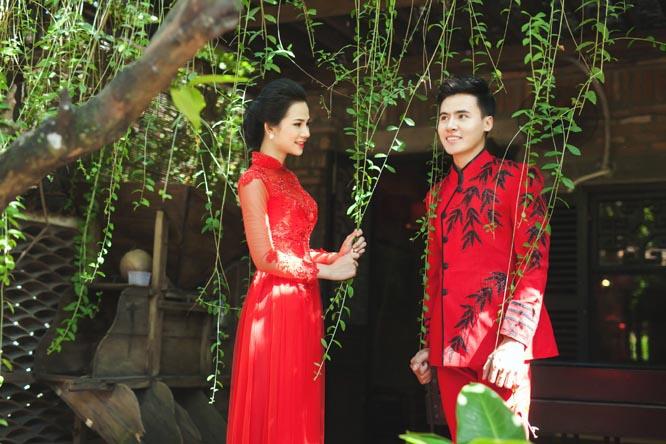 Hồ Văn Phúc - Lý Thiên Trúc lộng lẫy với tone đỏ Áo cưới Tommy Nguyễn