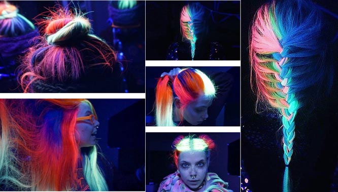 Những mái tóc phát sáng trong đêm hút hồn giới trẻ