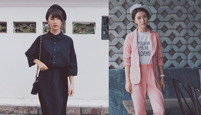 Quỳnh Anh Shyn đẹp miễn chê với phong cách preppy