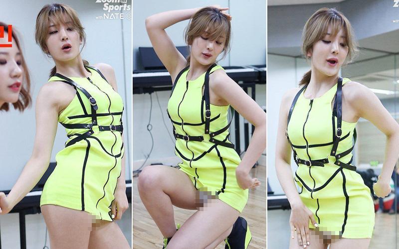 Váy của các nữ thần tượng Hàn Quốc ngày càng ngắn?